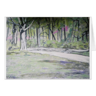 spring in park greeting card