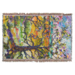 Spring In Provence Country Cottage Throw Blanket