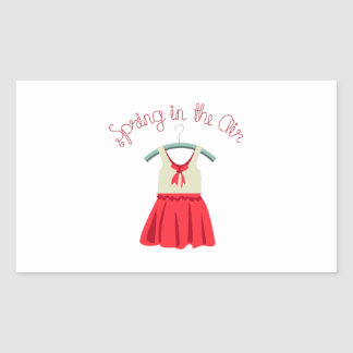 Spring In The Air Rectangular Stickers