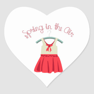 Spring In The Air Heart Sticker