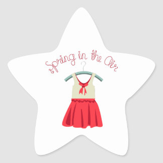 Spring In The Air Star Stickers