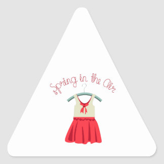 Spring In The Air Triangle Sticker
