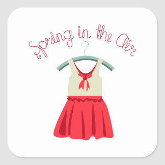 Spring In The Air Square Stickers