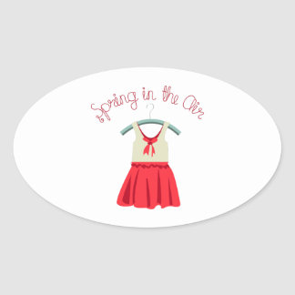 Spring In The Air Oval Sticker