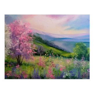 Spring in the Carpathians Postcard