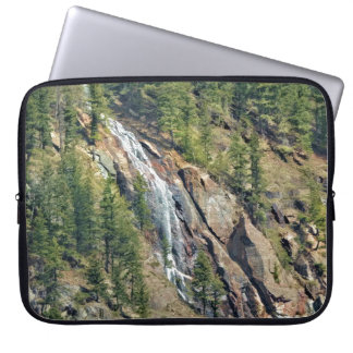Spring in the Rockies Canada Scenic Waterfall Art Computer Sleeve
