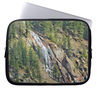 Spring in the Rockies Canada Scenic Waterfall Art Computer Sleeves