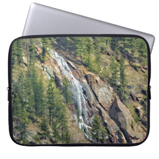 Spring in the Rockies Canada Scenic Waterfall Art Laptop Sleeve