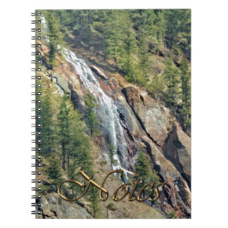 Spring in the Rockies Canada Scenic Waterfall Art Spiral Notebook