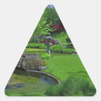 Spring in the Schedel Garden Triangle Sticker
