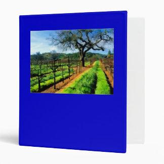 Spring in the Vineyard 3 Ring Binder
