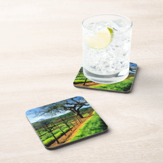 Spring in the Vineyard Beverage Coaster