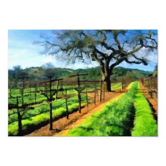 "Spring in the Vineyard 5"" X 7"" Invitation Card"