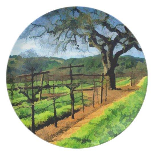 Spring in the Vineyard Melamine Plate