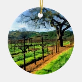Spring in the Vineyard Christmas Ornament