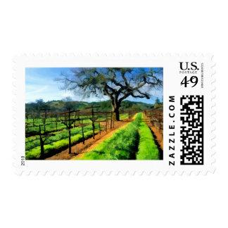 Spring in the Vineyard Postage Stamp