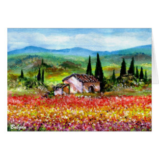 SPRING IN TUSCANY 2 GREETING CARDS