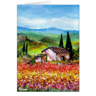 SPRING IN TUSCANY COUNTRYSIDE GREETING CARDS
