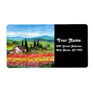 SPRING IN TUSCANY PERSONALIZED SHIPPING LABELS