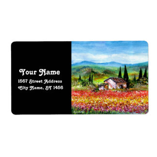 SPRING IN TUSCANY SHIPPING LABEL