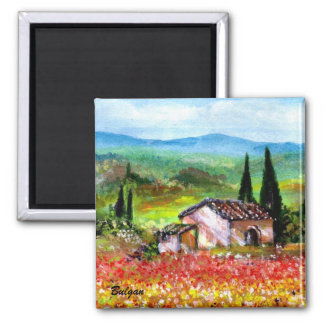 SPRING IN TUSCANY MAGNETS
