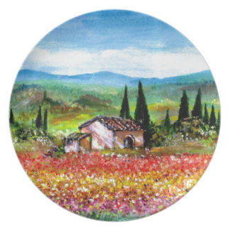 SPRING IN TUSCANY PARTY PLATE