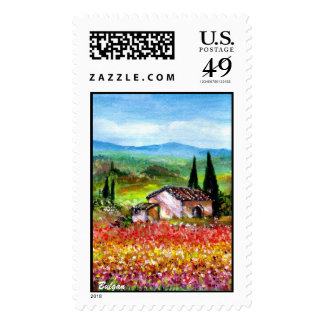SPRING IN TUSCANY POSTAGE STAMP