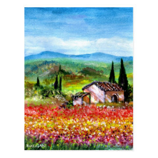 SPRING IN TUSCANY POSTCARD