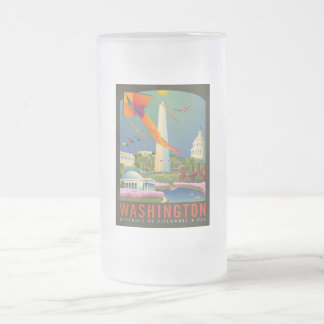 Spring in Washington D.C. Frosted Glass Beer Mug