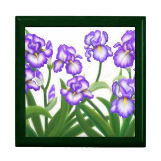 Spring Iris Floral Garden Gift Box