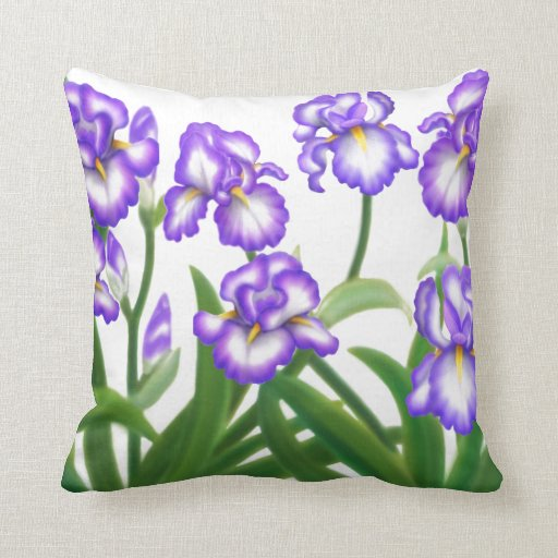 Spring Iris Garden Pillow