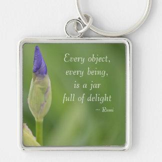 Spring Iris Keychain