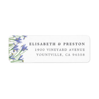 Spring Iris | Watercolor Floral Return Address Label