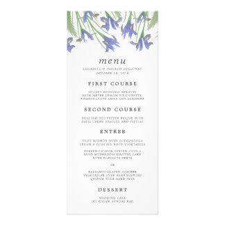 Spring Iris | Watercolor Floral Wedding Menu Card