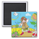 Spring is a Time to Dance Fridge Magnet