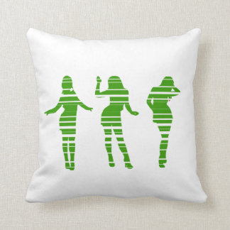 Spring is coming: Green dancing party girls Throw Pillow