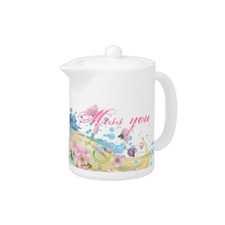 Spring is coming! I miss you! Teapot