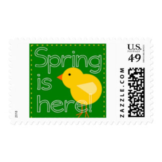 Spring Is Here Baby Chick Postage