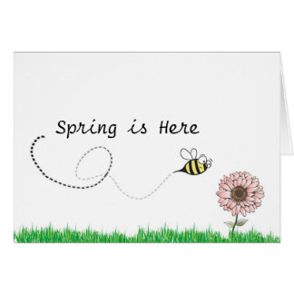 spring is here... bumble bee card