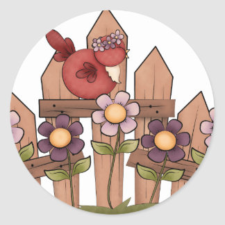 Spring is Here Classic Round Sticker