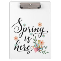 spring is here clipboard