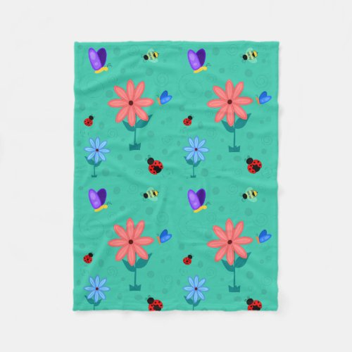 Spring is Here! Fleece Blanket