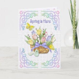 Spring Is Here - Verse inside card
