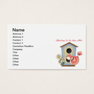 Spring is in the Air bird Business Card