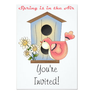 Spring is in the Air bird Card