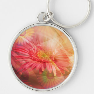 Spring is in the Air Silver-Colored Round Keychain