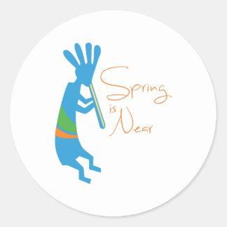 Spring Is Near Classic Round Sticker