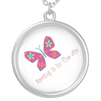 Spring Is Silver Plated Necklace