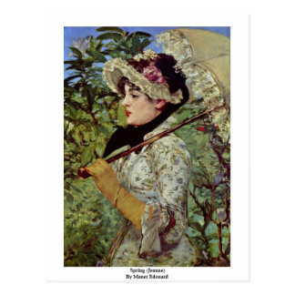 Spring (Jeanne) By Manet Edouard Postcard