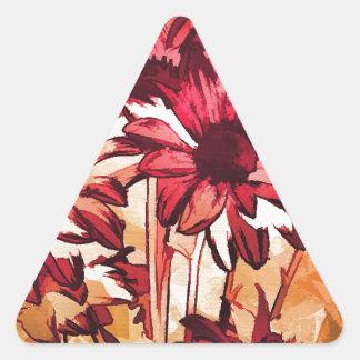 spring joy triangle sticker